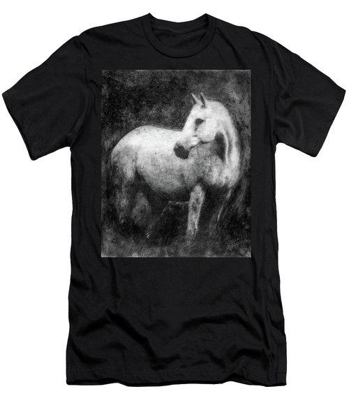 White Horse Portrait Men's T-Shirt (Athletic Fit)