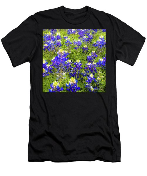 Wild Bluebonnets Blooming Men's T-Shirt (Athletic Fit)