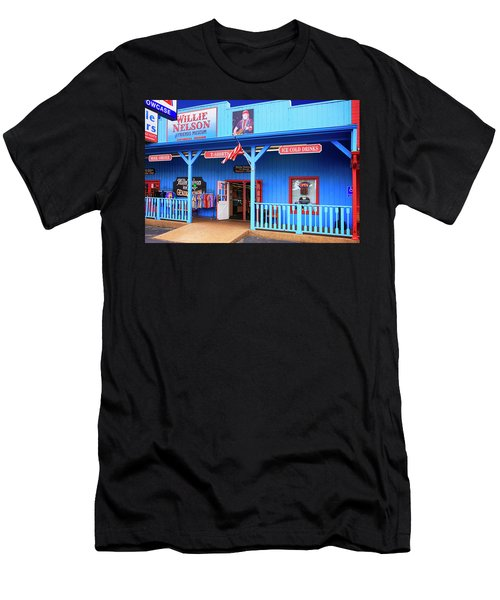 Willie Nelson And Friends Museum And Souvenir Store In Nashville, Tn, Usa Men's T-Shirt (Athletic Fit)