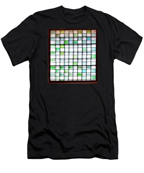 Stained Glass Window  Men's T-Shirt (Athletic Fit)