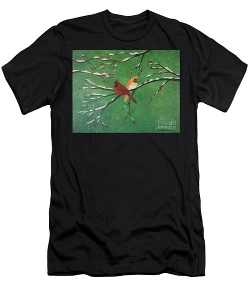 Winter Cardinals Men's T-Shirt (Athletic Fit)