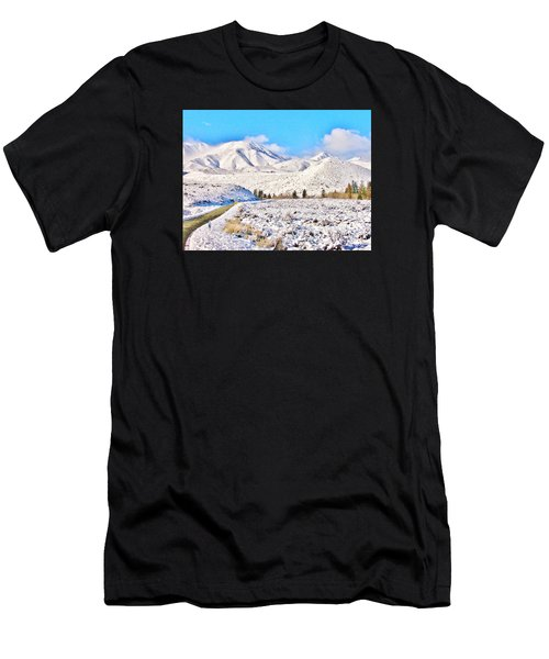Winter Driving Men's T-Shirt (Athletic Fit)