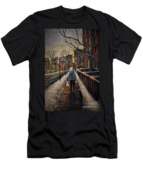 Winter In The City Men's T-Shirt (Athletic Fit)