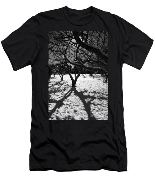 Men's T-Shirt (Athletic Fit) featuring the photograph Winter Shadows by Yulia Kazansky