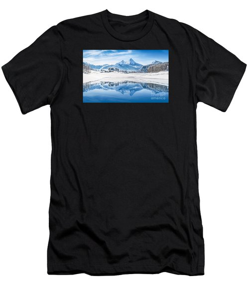 Winter Wonderland In The Alps Men's T-Shirt (Athletic Fit)