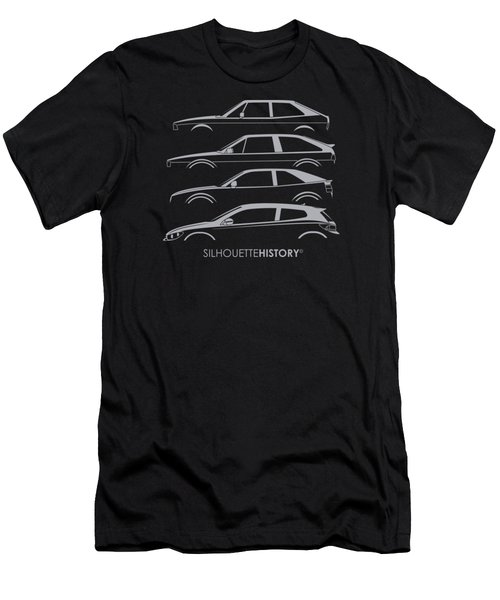 Wolfsburger Coupe Silhouettehistory Men's T-Shirt (Athletic Fit)