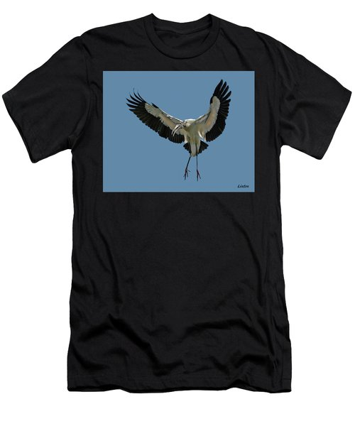Men's T-Shirt (Athletic Fit) featuring the photograph Wood Stork by Larry Linton