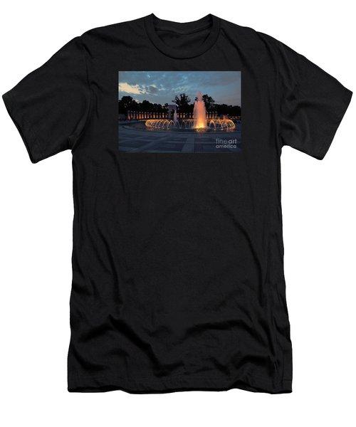 World War II Memorial Fountain Men's T-Shirt (Athletic Fit)