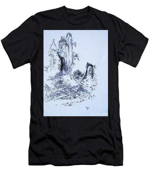 Yama No Fukei Men's T-Shirt (Athletic Fit)
