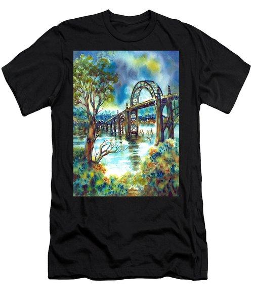 Yaquina Bay Bridge Men's T-Shirt (Athletic Fit)