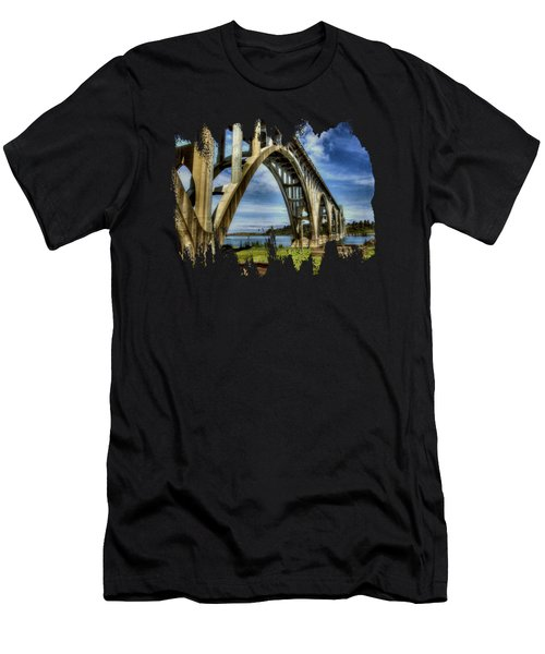 Yaquina Bay Bridge From South Beach Men's T-Shirt (Athletic Fit)