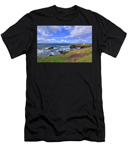 Yaquina Head Lighthouse Men's T-Shirt (Athletic Fit)