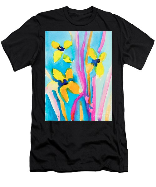 Yellow Flowers Men's T-Shirt (Athletic Fit)