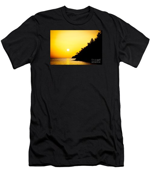 Yellow Sunrise Seascape And Sun Artmif Men's T-Shirt (Athletic Fit)