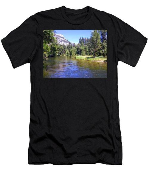 Yosemite Lazy River Men's T-Shirt (Athletic Fit)