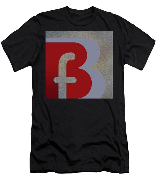 Your Name - B F Or F B Monogram Men's T-Shirt (Athletic Fit)