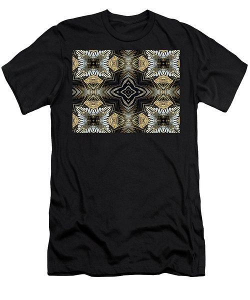 Zebra V Men's T-Shirt (Slim Fit) by Maria Watt