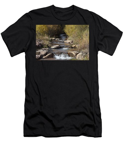 Waterfall Westcliffe Co Men's T-Shirt (Athletic Fit)