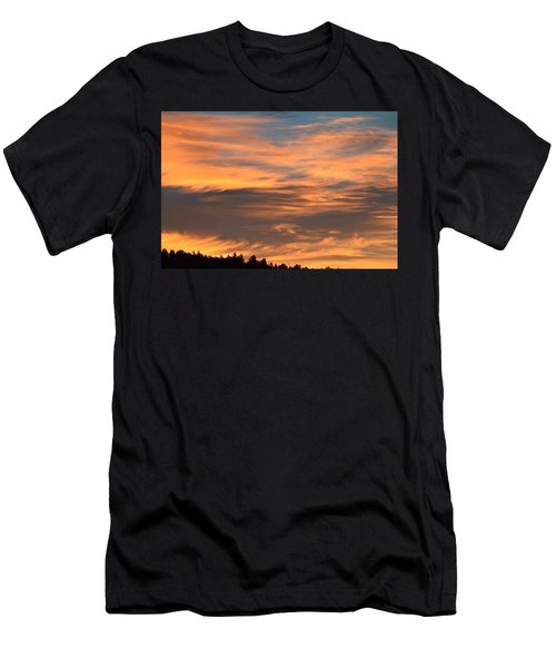 Men's T-Shirt (Athletic Fit) featuring the photograph Sunrise Ridge Cr511 by Margarethe Binkley