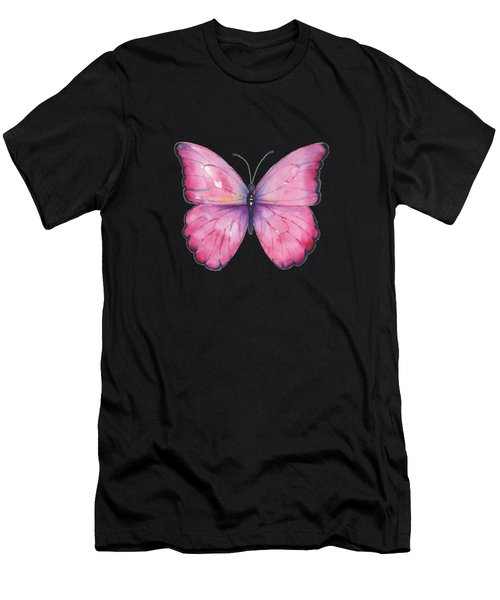 105 Pink Celestina Butterfly Men's T-Shirt (Athletic Fit)