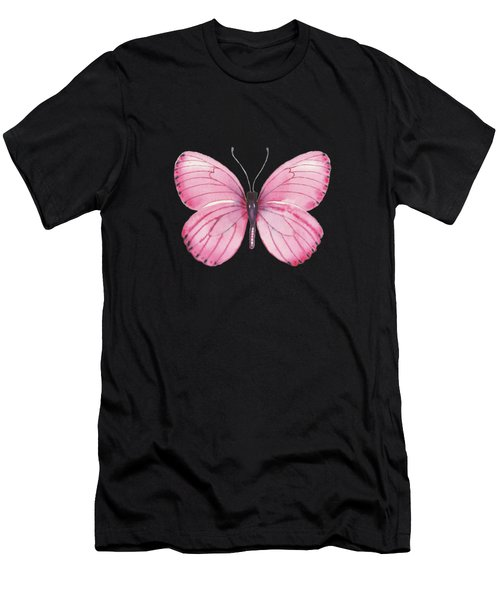 106 Pink Marcia Butterfly Men's T-Shirt (Athletic Fit)