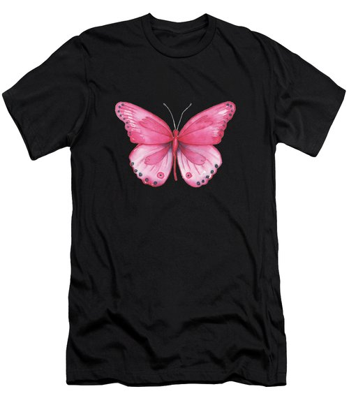 107 Pink Genus Butterfly Men's T-Shirt (Athletic Fit)