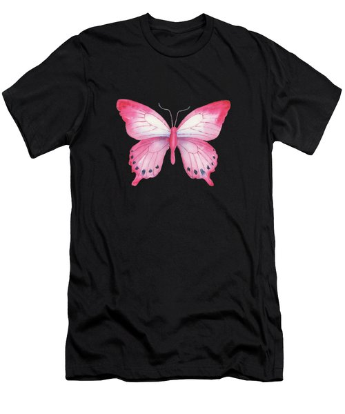 108 Pink Laglaizei Butterfly Men's T-Shirt (Athletic Fit)
