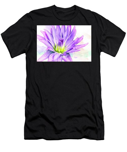 10889 Purple Lily Men's T-Shirt (Athletic Fit)