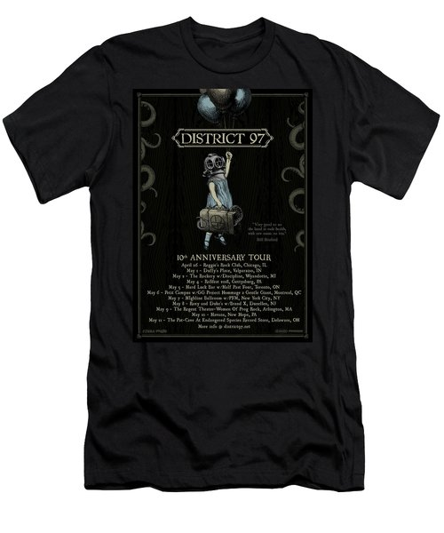 Men's T-Shirt (Athletic Fit) featuring the digital art 10th Anniversary Tour by District 97