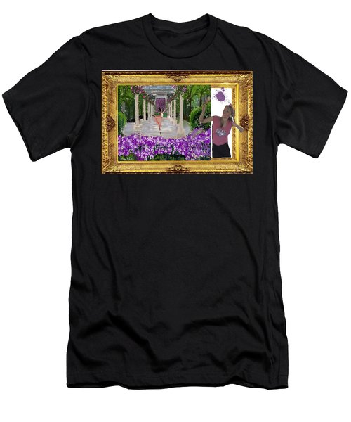 Men's T-Shirt (Slim Fit) featuring the digital art Cover Art For Gallery by Diana Riukas