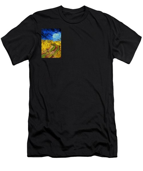 Wheatfield With Crows Men's T-Shirt (Athletic Fit)