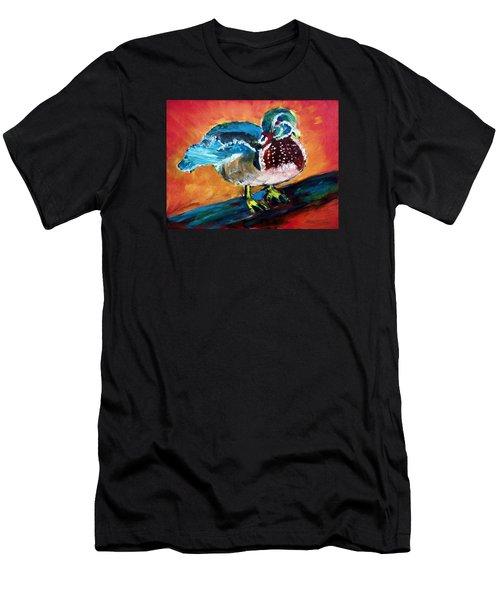 122215 Male Wood Duck Men's T-Shirt (Athletic Fit)