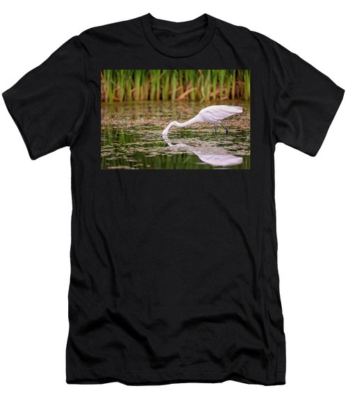 White, Great Egret Men's T-Shirt (Athletic Fit)