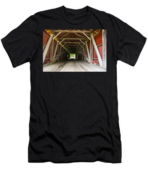 143 Feet Of Covered Bridge Men's T-Shirt (Athletic Fit)