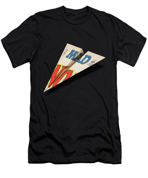 147 Mad Paper Airplane Men's T-Shirt (Athletic Fit)