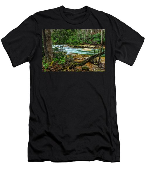 Men's T-Shirt (Slim Fit) featuring the photograph Back Fork Of Elk River by Thomas R Fletcher