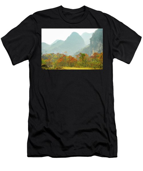 Men's T-Shirt (Athletic Fit) featuring the photograph The Colorful Autumn Scenery by Carl Ning
