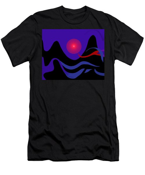 1536 - Red Mountain Sun -  2017 Men's T-Shirt (Slim Fit) by Irmgard Schoendorf Welch