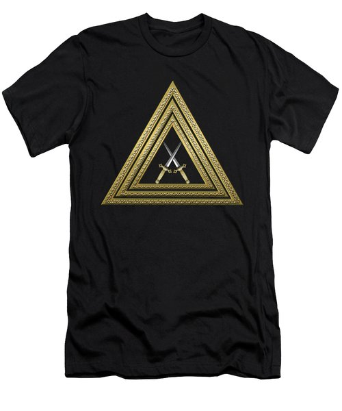 15th Degree Mason - Knight Of The East Masonic Jewel  Men's T-Shirt (Slim Fit) by Serge Averbukh