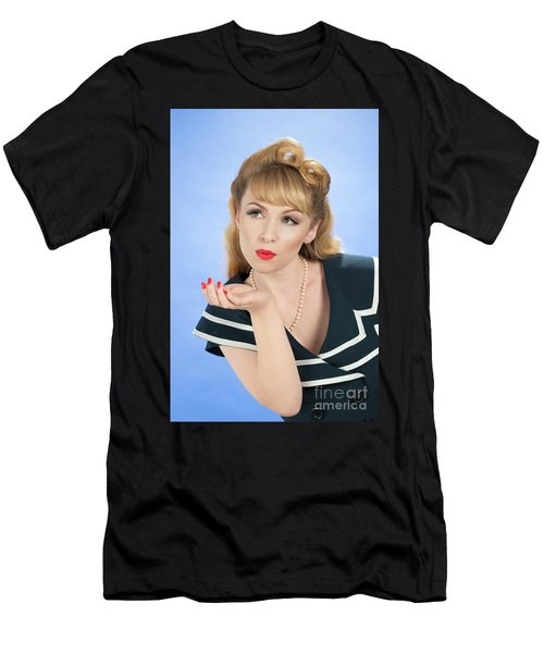 Pin Up Girl Men's T-Shirt (Athletic Fit)