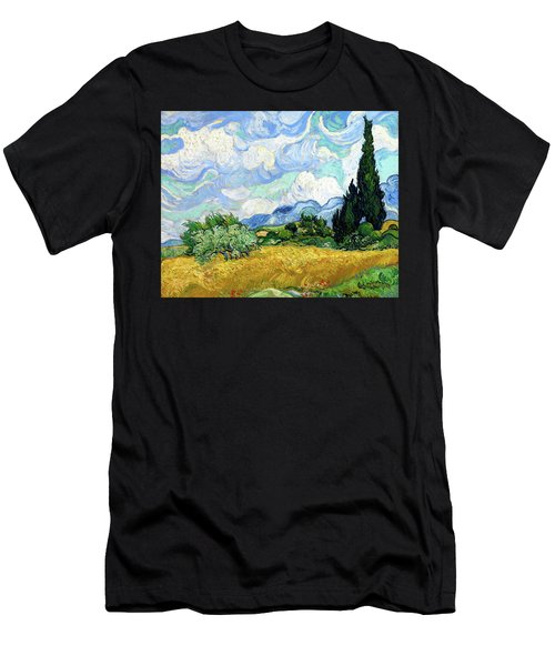 Wheat Field With Cypresses Men's T-Shirt (Athletic Fit)