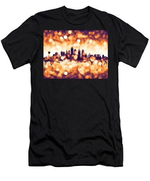 Philadelphia Pennsylvania Skyline Men's T-Shirt (Athletic Fit)