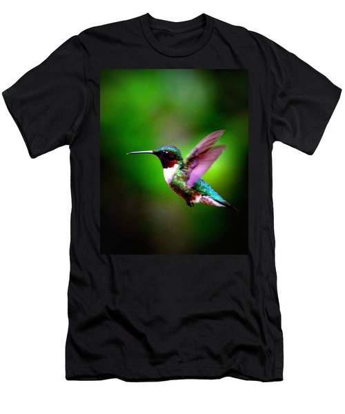 1846-007 - Ruby-throated Hummingbird Men's T-Shirt (Athletic Fit)