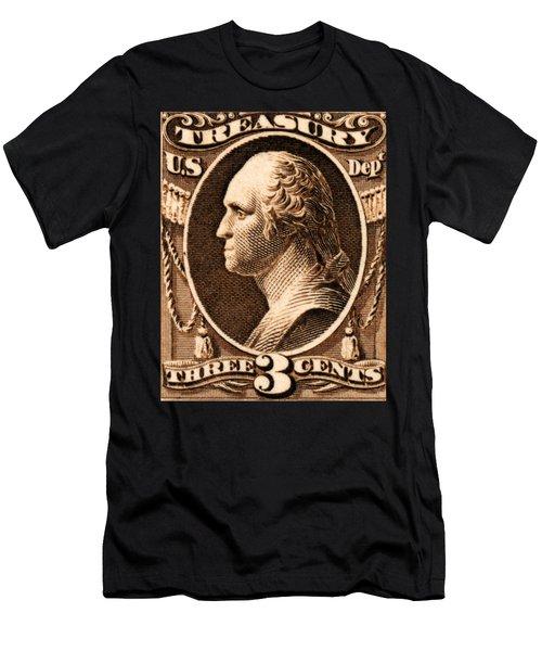 1875 George Washington Treasury Department Stamp Men's T-Shirt (Athletic Fit)