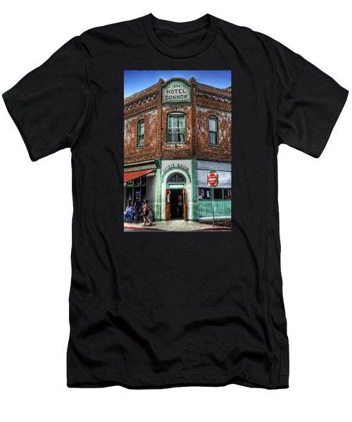 1898 Hotel Connor - Jerome Arizona Men's T-Shirt (Slim Fit) by Saija  Lehtonen