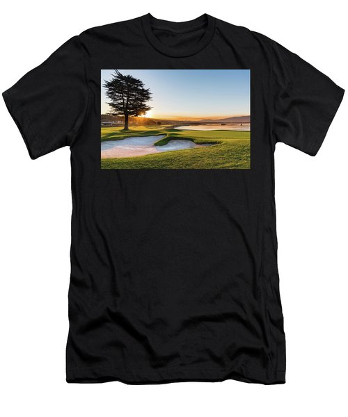 18th At Pebble Beach Men's T-Shirt (Athletic Fit)