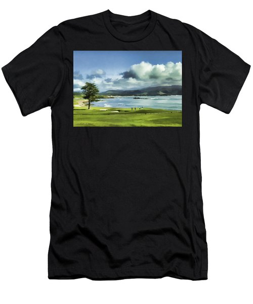 18th Hole Pebble Beach 2 Men's T-Shirt (Athletic Fit)