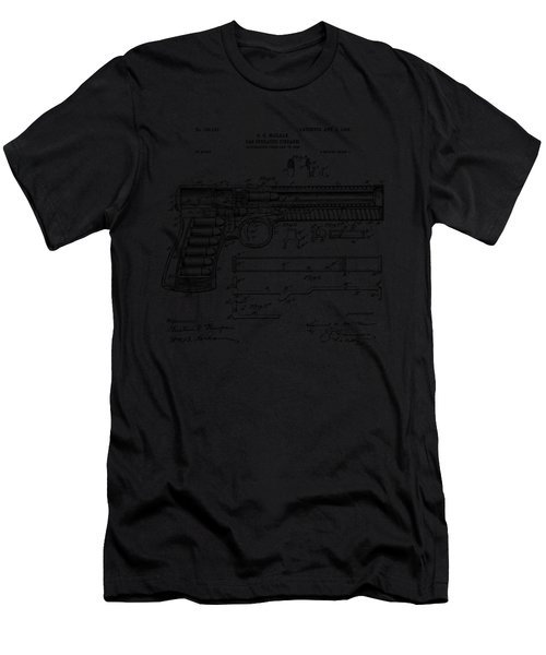 1903 Mcclean Pistol Patent Artwork - Vintage Men's T-Shirt (Athletic Fit)