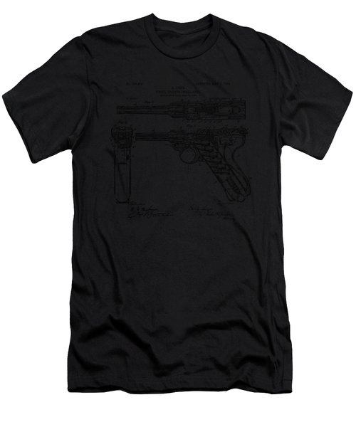 1904 Luger Recoil Loading Small Arms Patent - Vintage Men's T-Shirt (Athletic Fit)