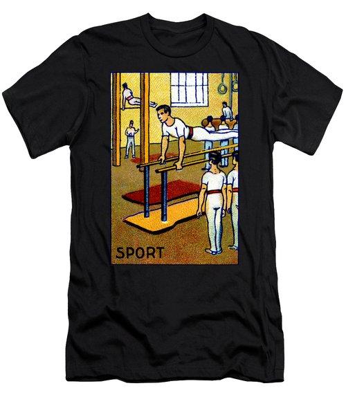 1910 Men's Gymnastics   Men's T-Shirt (Athletic Fit)